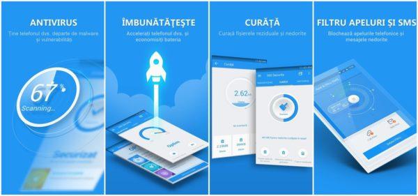 360 Mobile Security, antivirus telefon Android gratis și bun