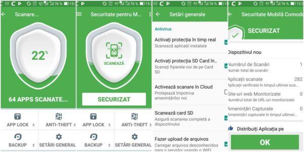 Comodo Mobile Security, cel mai bun antivirus Android 2019 pentru telefon și tabletă