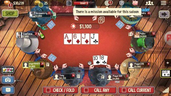 Governor of Poker 3, cele mai bune jocuri de poker fără înregistrare pentru telefon Android.