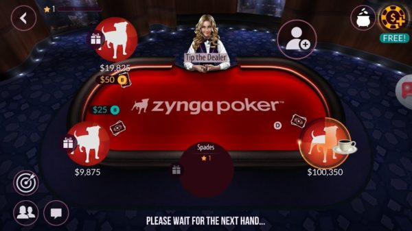Zynga, aplicație pentru poker online gratis Android.