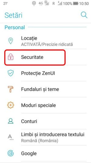 activare surse necunoscute android