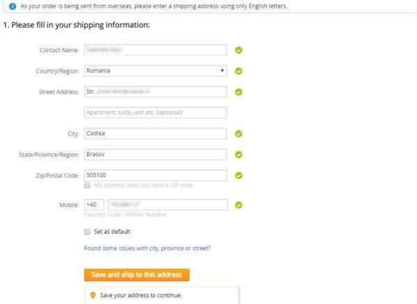 Cum se livrează produsele cumpărate pe Aliexpress