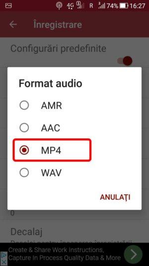 Aplicație Android de înregistrat apel telefonic