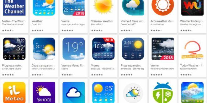 Aplicații meteo Android care arată vremea pe ecran precis în România.