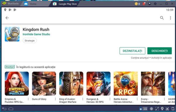 Bluestacks, instalare jocuri Android pe PC