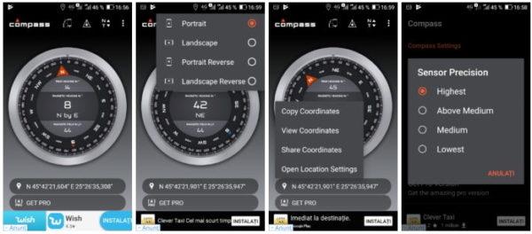 Busolă Android gratis