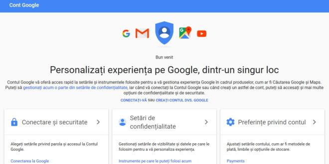 creare cont google nou