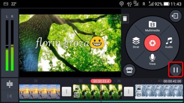 Cum se modifică un video pe telefon Android cu Kinemaster.