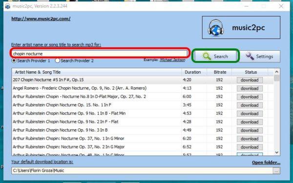 Descarcă muzică gratis și repede cu music2pc